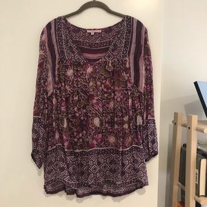 Purple Calypso tunic